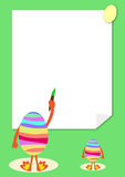 De prentbriefkaar van Pasen Stock Afbeeldingen