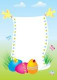 De prentbriefkaar van Pasen Vector Illustratie