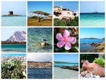 De prentbriefkaar van Sardinige - Italië stock fotografie