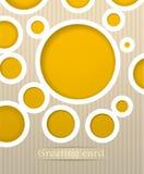 De prentbriefkaarillustratie van cirkels vector illustratie