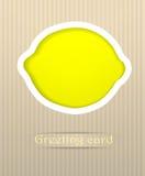 De prentbriefkaarillustratie van de citroen Stock Foto