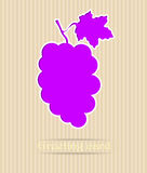 De prentbriefkaarillustratie van de druif Stock Afbeelding