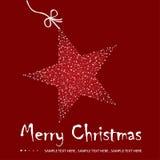 De prentbriefkaarillustratie van Kerstmis Stock Foto's