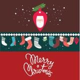 De prentbriefkaarontwerp van Kerstmis Stock Fotografie