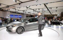 De Presentatie van de auto Stock Afbeelding