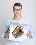 De presentatie van het bouwproject royalty-vrije stock foto's