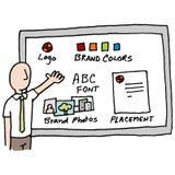 De presentatie van het merkbeheer Stock Afbeeldingen