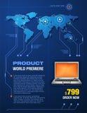 De Presentatie van het product Stock Foto