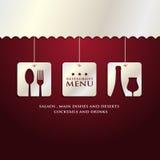 De presentatie van het restaurantmenu Royalty-vrije Stock Afbeeldingen