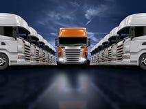 De presentatie van vrachtwagens Stock Fotografie