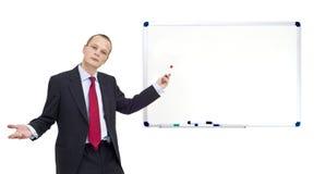 De presentatie van Whiteboard Stock Afbeeldingen