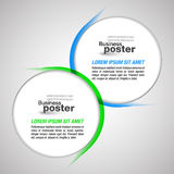 De presentatieachtergrond mengde cirkelelementen Royalty-vrije Stock Afbeelding