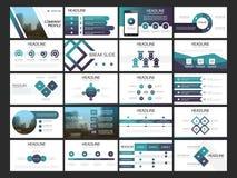 De presentatiemalplaatje van bundel infographic elementen bedrijfs jaarverslag, brochure, pamflet, reclamevlieger, royalty-vrije illustratie