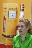 De presentator van Calvados Boulard tijdens het festival Stock Fotografie