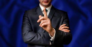 De presidentiële kandidaat spreekt aan de mensenmenigte Stock Fotografie