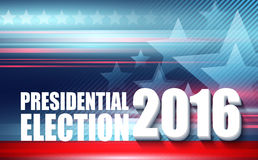 2016 de presidentsverkiezingaffiche van de V.S. Vector illustratie Royalty-vrije Stock Foto's