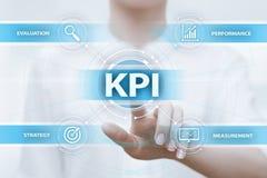 De Prestatie-indicator de Commerciële van KPI Zeer belangrijk Technologieconcept van Internet royalty-vrije stock foto's