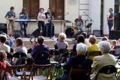 De prestaties van de band Agnessa Royalty-vrije Stock Foto