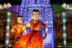 De Prestaties van de lantaarn (India) Stock Afbeelding