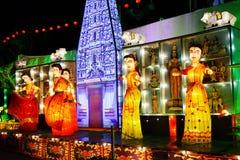 De Prestaties van de lantaarn (India) Royalty-vrije Stock Foto