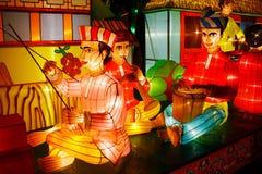 De Prestaties van de lantaarn (Maleis) Royalty-vrije Stock Foto's