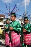 De Prestaties van de Tanjidormuziek, Pontianak Stock Foto's