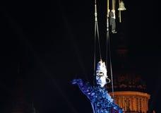 De prestaties van Fura dels Baus met de Millenniummens voor nieuw jaar Royalty-vrije Stock Foto