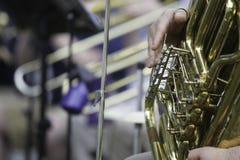 De Prestaties van het symfonieorkest Stock Foto's