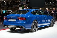 De Prestatiesauto van Audi RS7 Stock Foto's