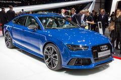 De Prestatiesauto van Audi RS7 Stock Afbeelding