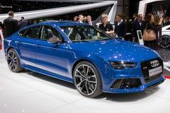 2016 de Prestatiesauto van Audi RS7 Stock Afbeeldingen