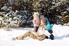 De pret van de sneeuw Stock Afbeelding