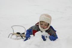 De pret van de sneeuw royalty-vrije stock foto's
