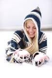 De pret van de sneeuw stock foto's