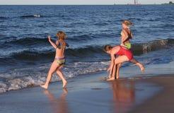 De pret van het strand Royalty-vrije Stock Afbeeldingen