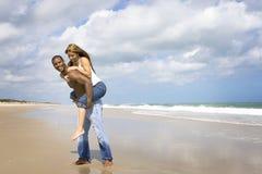 De pret van het strand Stock Afbeeldingen