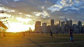 De pret van het voetbalvoetbal Stock Fotografie