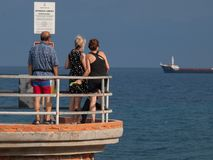 De prettige tijd van de de zomerdag in Savona Royalty-vrije Stock Fotografie