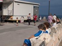 De prettige tijd van de de zomerdag in Savona Royalty-vrije Stock Foto