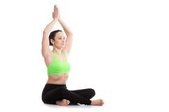 De prettige yoga stelt royalty-vrije stock foto's