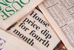 De prijs van het huis Stock Fotografie
