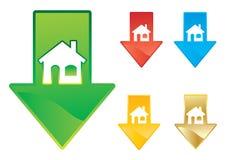 De prijsdaling van de huisvesting royalty-vrije illustratie