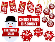 De prijskaartjes en de etiketten van Kerstmis Royalty-vrije Stock Fotografie