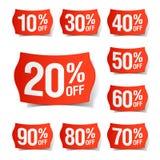 De prijskaartjes van de korting Stock Afbeelding