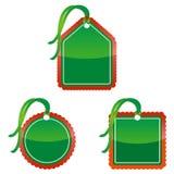 De Prijskaartjes van Kerstmis Stock Afbeeldingen