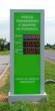 De prijsteken van de benzine - Euro royalty-vrije stock foto's
