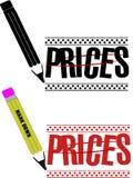 De prijsvermindering van de prijs royalty-vrije illustratie