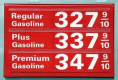De prijzen van de benzine Stock Afbeelding