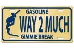 De prijzen van de benzinepomp Stock Afbeeldingen