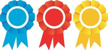De prijzen van de Rozetten van winnaars Stock Afbeelding